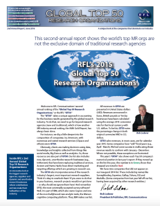 The front page of the second annual issue of RFL's Global Top 50.